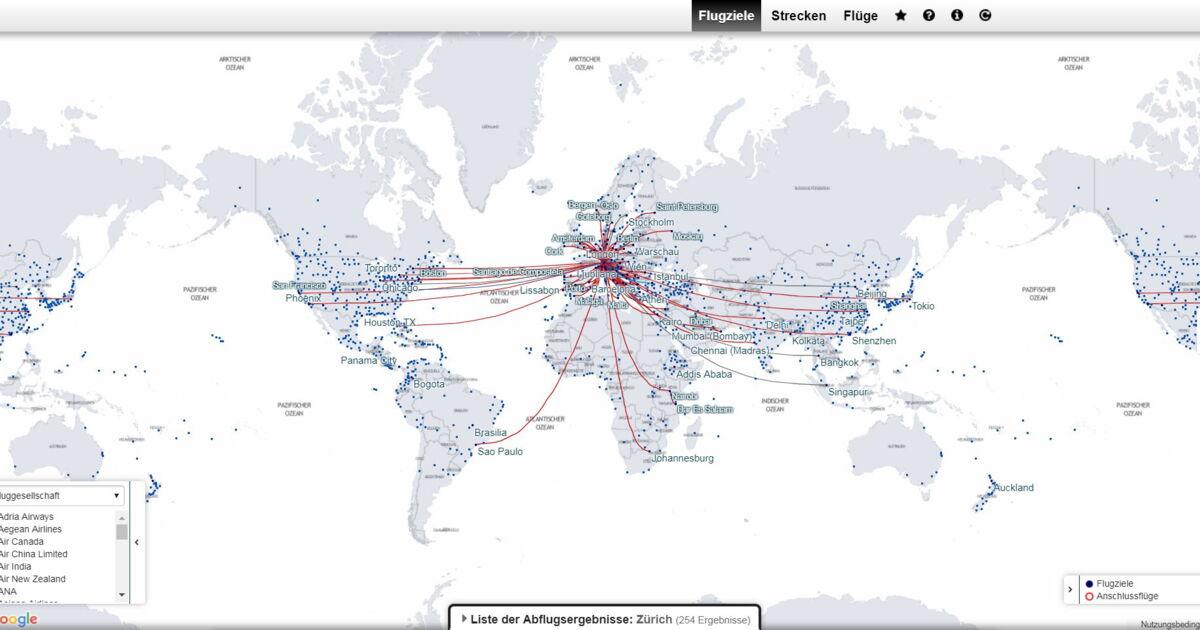 2221 wöchentliche Nonstopflüge ab der Schweiz - Star ...
