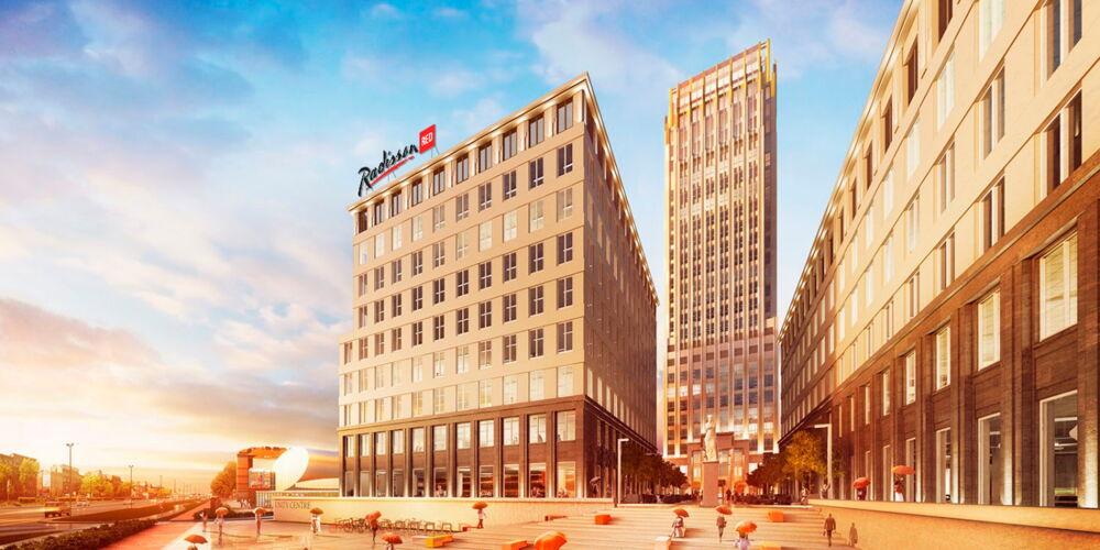 So soll das Radisson RED in Krakau dereinst aussehen - wenngleich nicht ganz so rot.  Bild: Rezidor Hotel Group