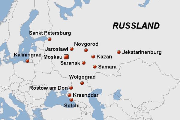 Wm 2018 Spielorte Karte.Wm Fieber Von Moskau Bis Jekaterinburg Travelnews Ch